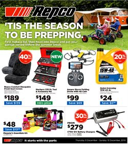 Offers from Repco in the Hamilton special