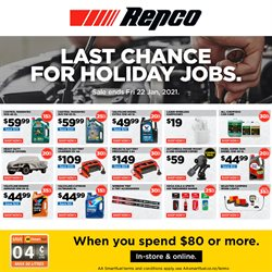 Cars, Motorcycles & Spares offers in the Repco catalogue in Hamilton ( 3 days left )