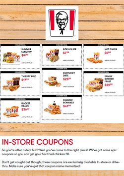 Restaurants offers in the KFC catalogue ( 2 days ago )