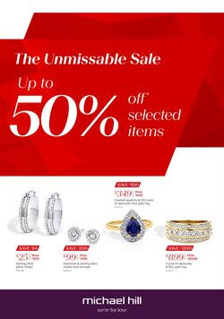 Offers from Michael Hill in the Auckland special