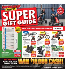 Cars, motorcycles & spares offers in the SuperCheap Auto catalogue in Carterton