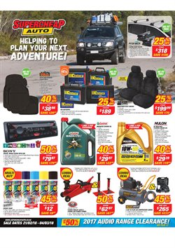 Cars, motorcycles & spares offers in the SuperCheap Auto catalogue in Auckland