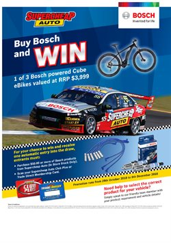 Cars, motorcycles & spares offers in the SuperCheap Auto catalogue in Christchurch