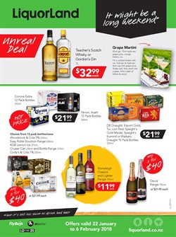Offers from Liquorland in the Auckland special