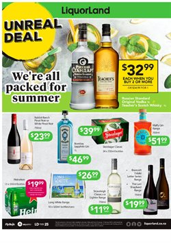 Supermarkets offers in the Liquorland catalogue in Carterton