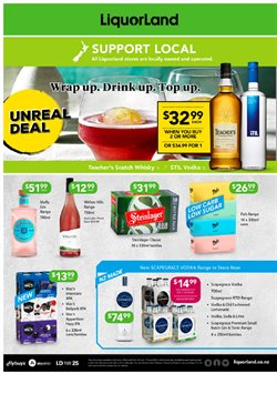 Supermarkets offers in the Liquorland catalogue ( 9 days left )