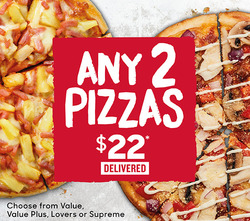Offers from Pizza Hut in the Rolleston special