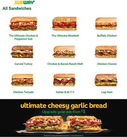 Restaurants offers in the Subway catalogue ( 5 days left)