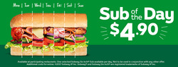 Restaurants offers in the Subway catalogue in Carterton