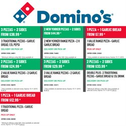 Restaurants offers in the Domino's Pizza catalogue in Paraparaumu