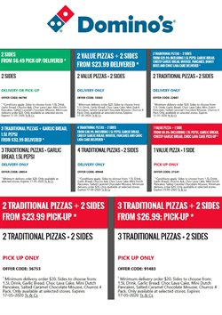 Restaurants offers in the Domino's Pizza catalogue ( More than a month )