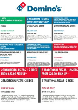 Restaurants offers in the Domino's Pizza catalogue in Wellington ( More than a month )