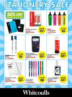Offers from Whitcoulls in the Christchurch special