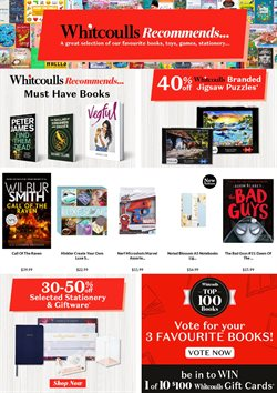 Department Stores offers in the Whitcoulls catalogue in Hamilton ( 6 days left )