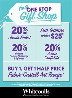 Department Stores offers in the Whitcoulls catalogue in Palmerston North ( 12 days left )