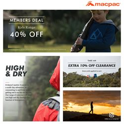 Offers from Macpac in the Auckland special