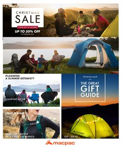 Sport offers in the Macpac catalogue in Queenstown