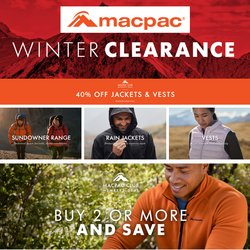 Macpac offers in the Macpac catalogue ( 1 day ago)