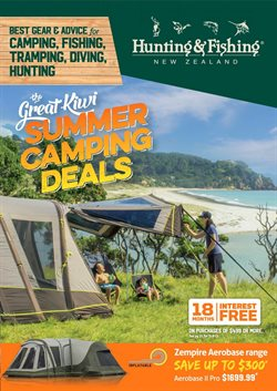 Offers from Hunting & Fishing in the New Plymouth special
