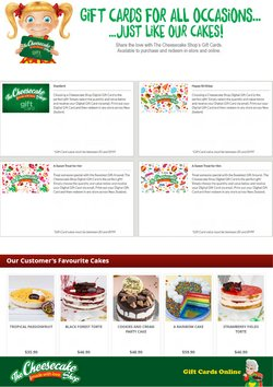 The Cheesecake Shop catalogue ( Expired )