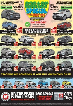 Offers from Enterprise Motor Group in the Auckland special