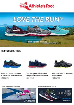 Offers from The Athlete's Foot in the Auckland special