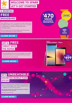 Offers from Spark in the Auckland special