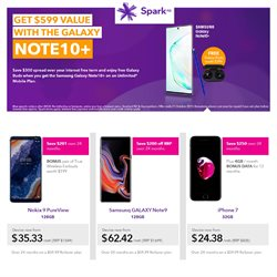 Offers from Spark in the Wellington special