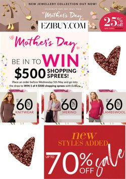 Mother's Day offers in the Ezibuy catalogue ( Expires tomorrow)
