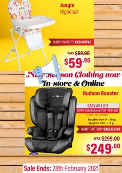 Babies, Kids & Toys offers in the The Baby Factory catalogue ( 2 days left )