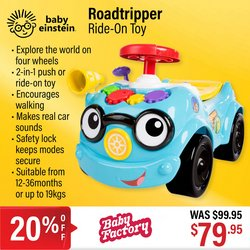 Babies, Kids & Toys offers in the The Baby Factory catalogue ( 4 days left)