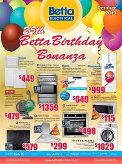Offers from Betta Electricals in the Hamilton special