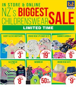 Offers from T&T in the Auckland special