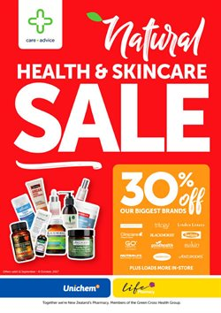 Pharmacy, Beauty & Personal Care offers in the Unichem catalogue in Auckland