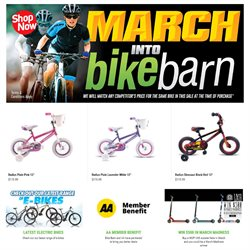 Offers from Bike Barn in the Auckland special