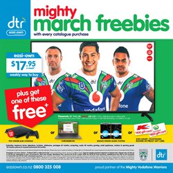 Offers from DTR in the Auckland special