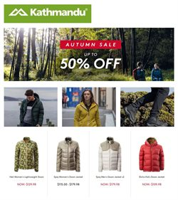 Offers from Kathmandu in the Wellington special