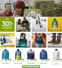 Sport offers in the Kathmandu catalogue in Auckland