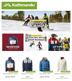 Sport offers in the Kathmandu catalogue in Whangarei