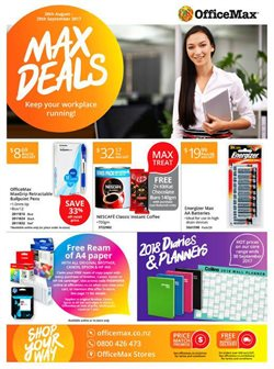Department Stores offers in the OfficeMax catalogue in Hamilton