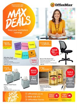 Offers from OfficeMax in the Christchurch special