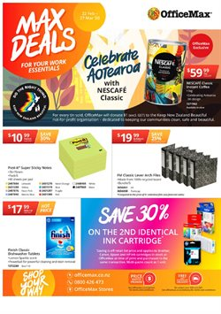 Department Stores offers in the OfficeMax catalogue in Palmerston North ( Published today )