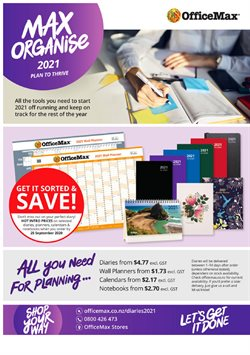 OfficeMax catalogue ( More than a month )