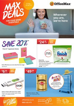 Department Stores offers in the OfficeMax catalogue ( Expires today)