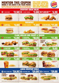 Restaurants offers in the Burger King catalogue in Auckland