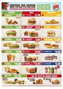 Offers from Burger King in the Auckland special