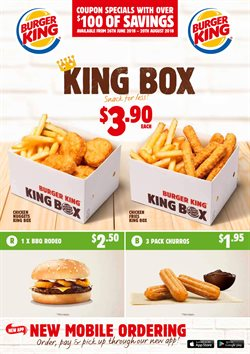 Restaurants offers in the Burger King catalogue in Christchurch