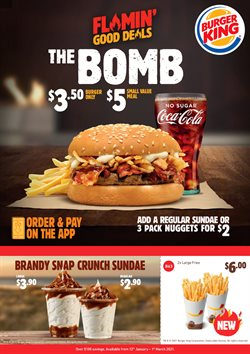 Restaurants offers in the Burger King catalogue in Tauranga ( 3 days ago )