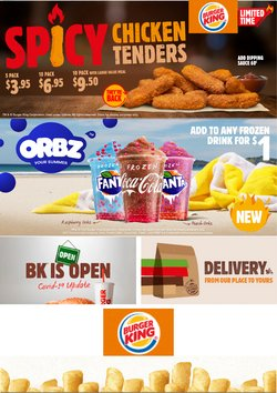 Restaurants offers in the Burger King catalogue in Auckland ( 3 days ago )