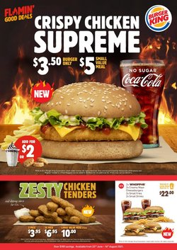 Restaurants offers in the Burger King catalogue ( 21 days left)